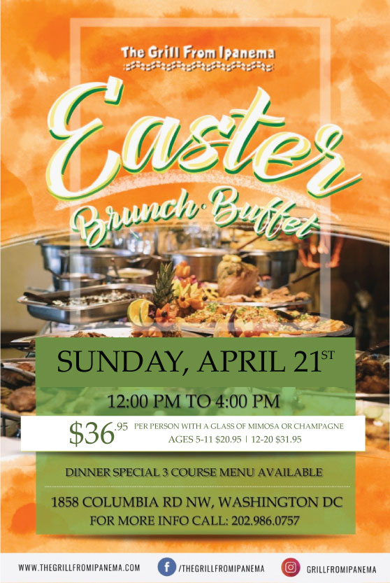 Join Us For A Special Easter Buffet April 21 12pm 4pm Adams Morgan